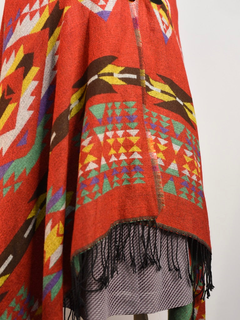Aztec Hooded Poncho