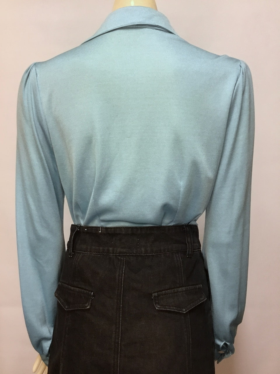 Baby Blue 70s Blouse