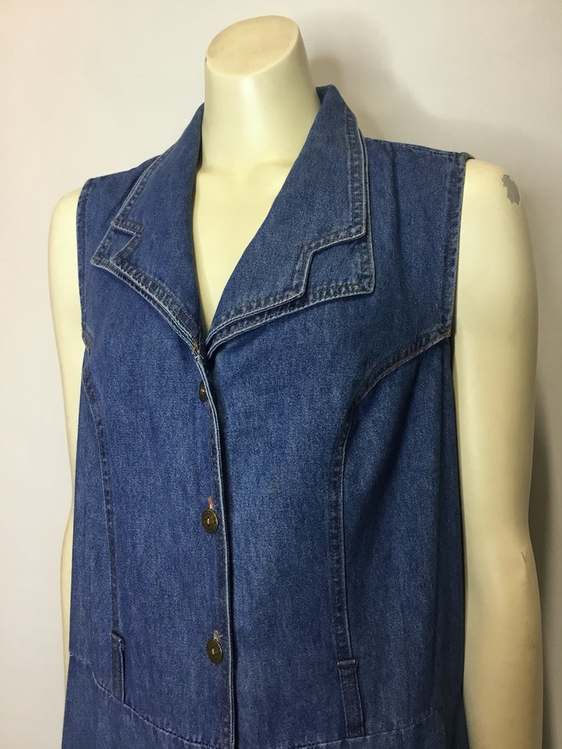 Long Denim 90s Dress