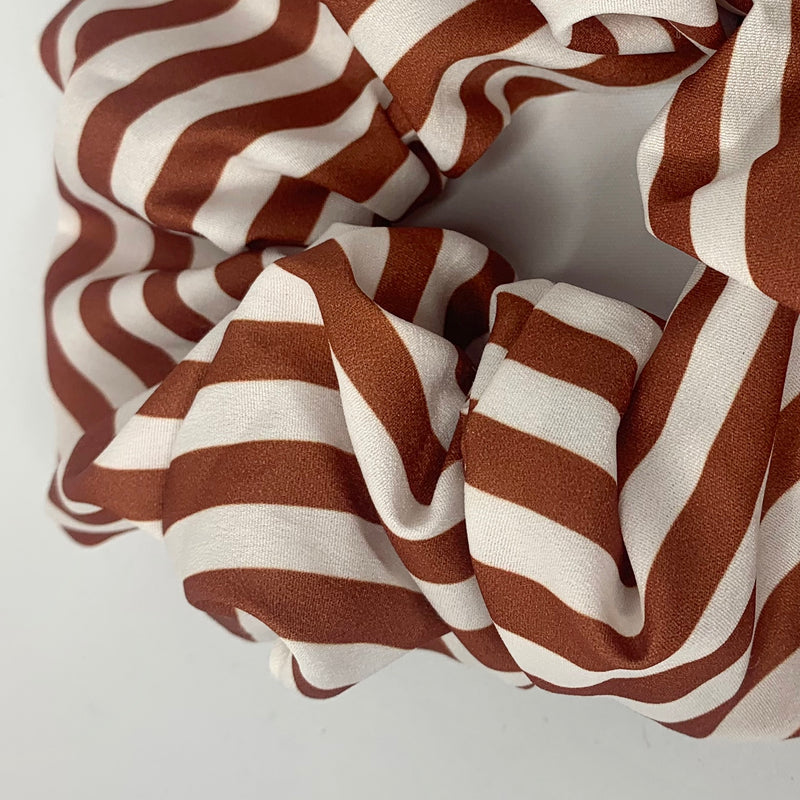 Stripy Silk Scrunchie