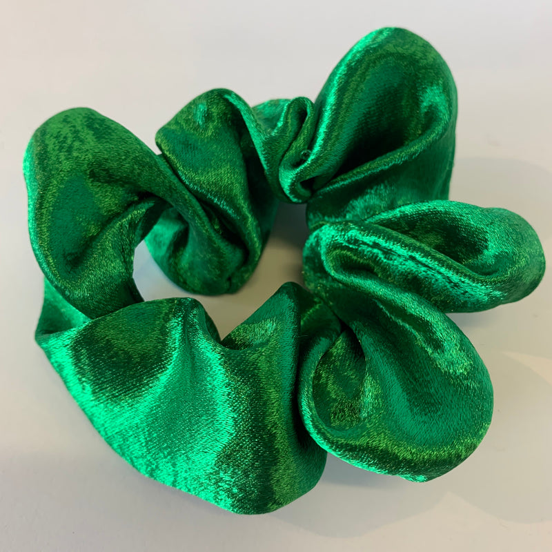 Silky Green Scrunchie