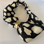 Black and White Splotchy Headband