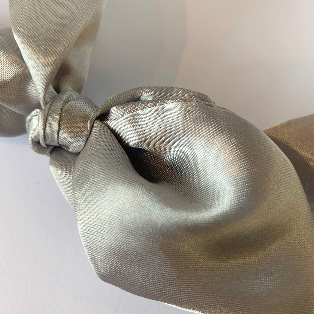Grey Satin Headband