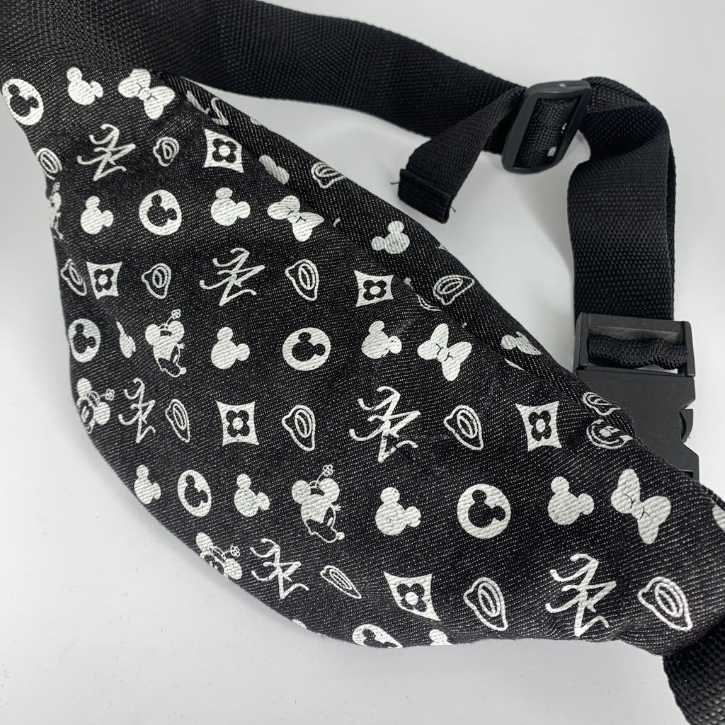 Denim Mickey Bumbag - Black Strap