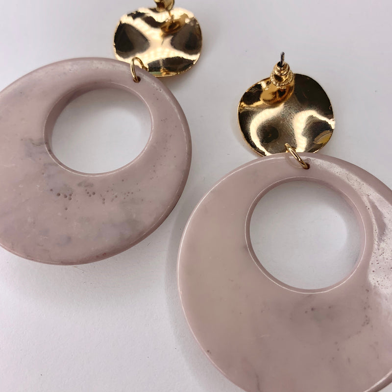 Mauve Marble Earrings