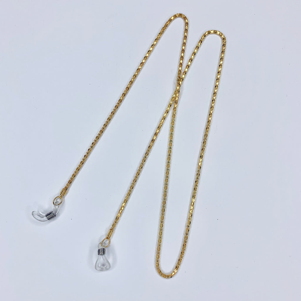 Sunnies Strap - Gold Snake Chain
