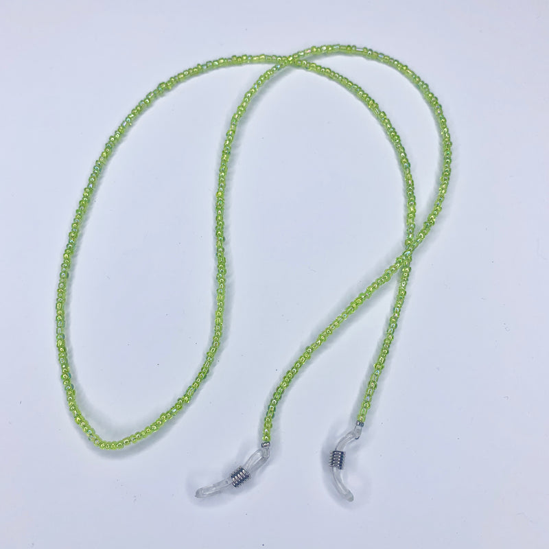 Beaded Sunnies Strap - Lime