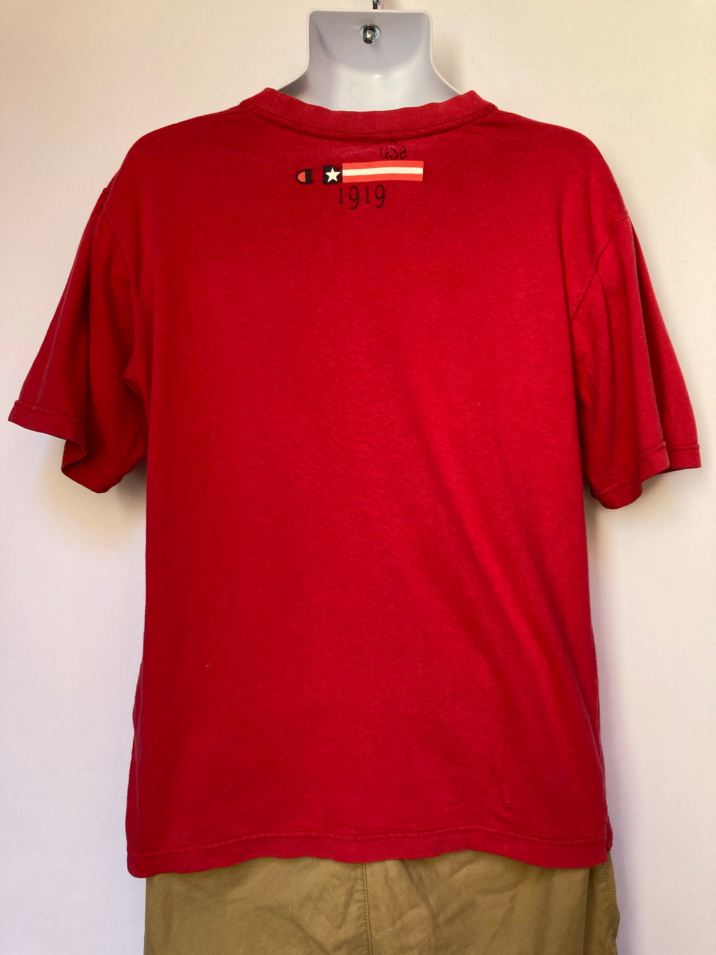 Red Champion T-shirt - AS IS - wear