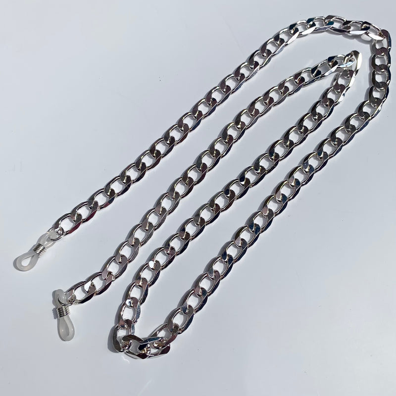 Curb Chain Sunnies Strap - Silver