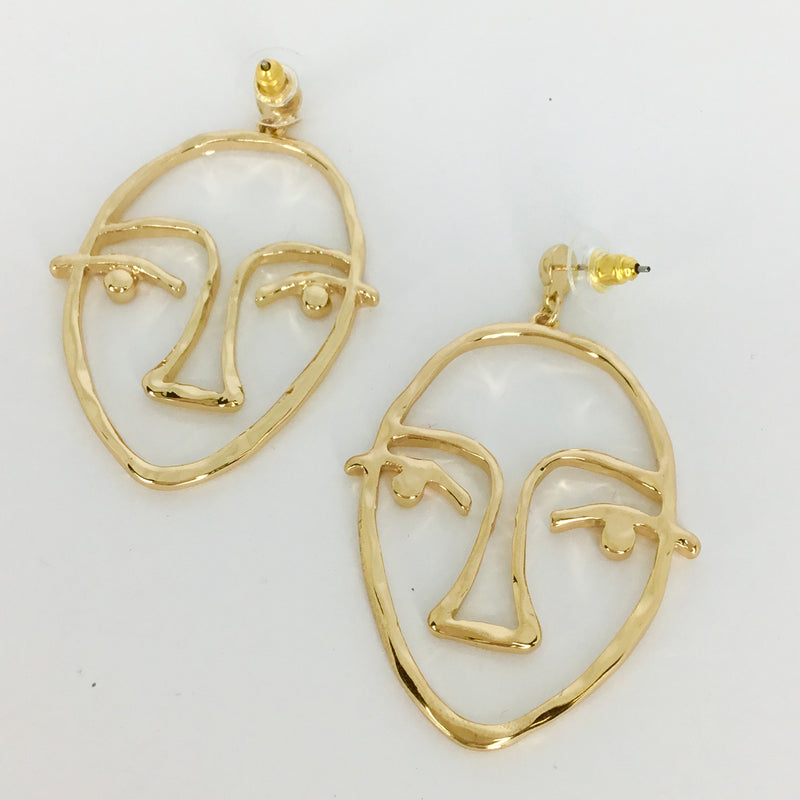 Arty Face Earrings