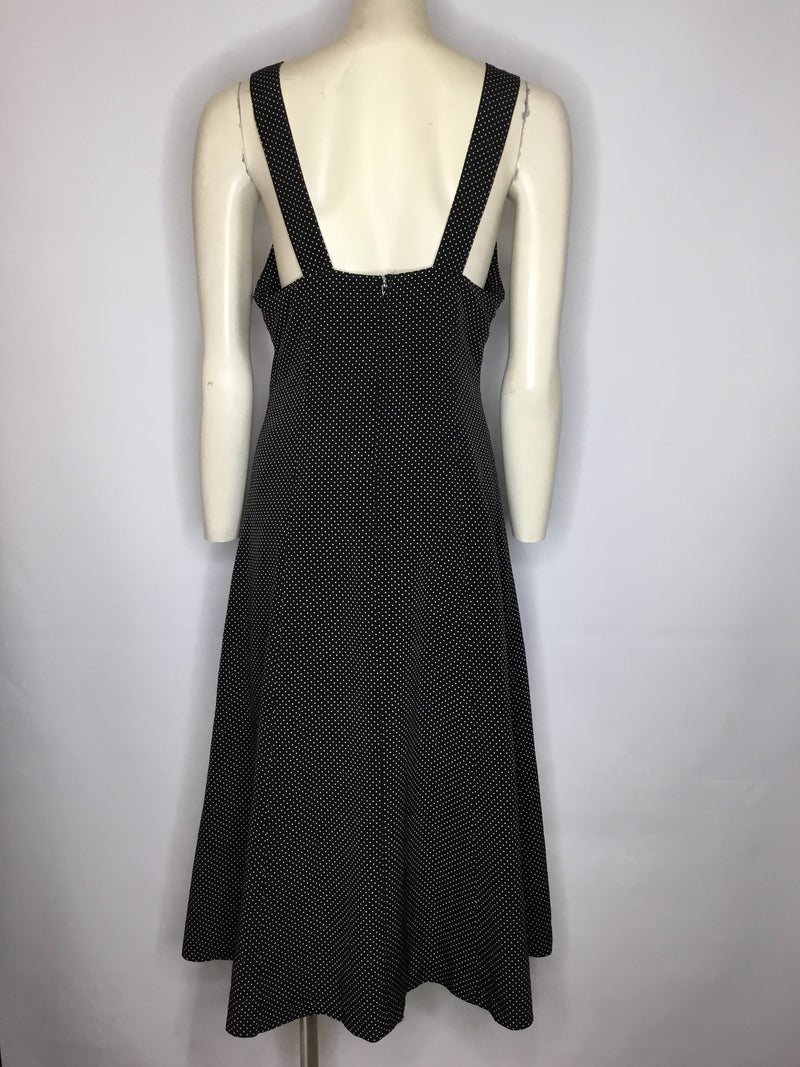 Polka Maxi Dress - AS IS - torn inside lining