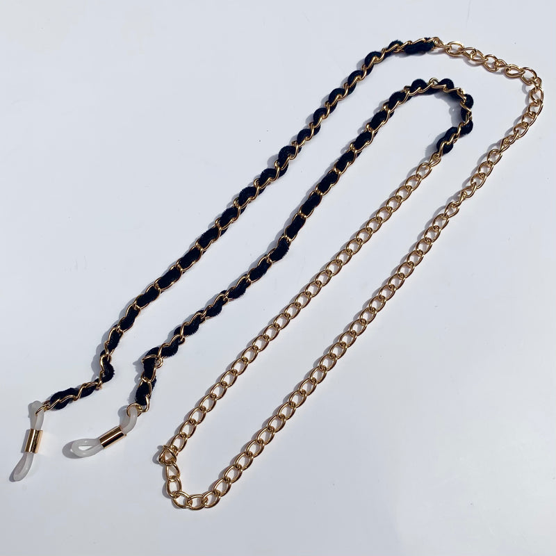 Velvet Chain Sunnies Strap - Gold
