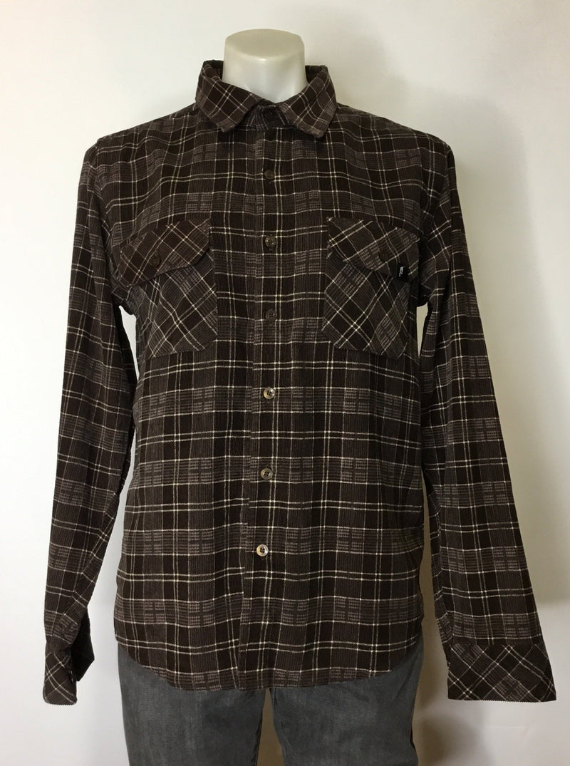 Axel Brown Plaid Cord Shirt
