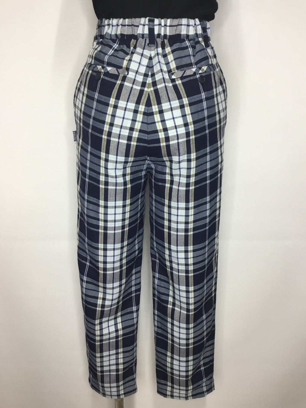 Blue and Gold Tartan Pants