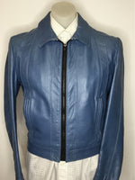 Blue Leather Jacket