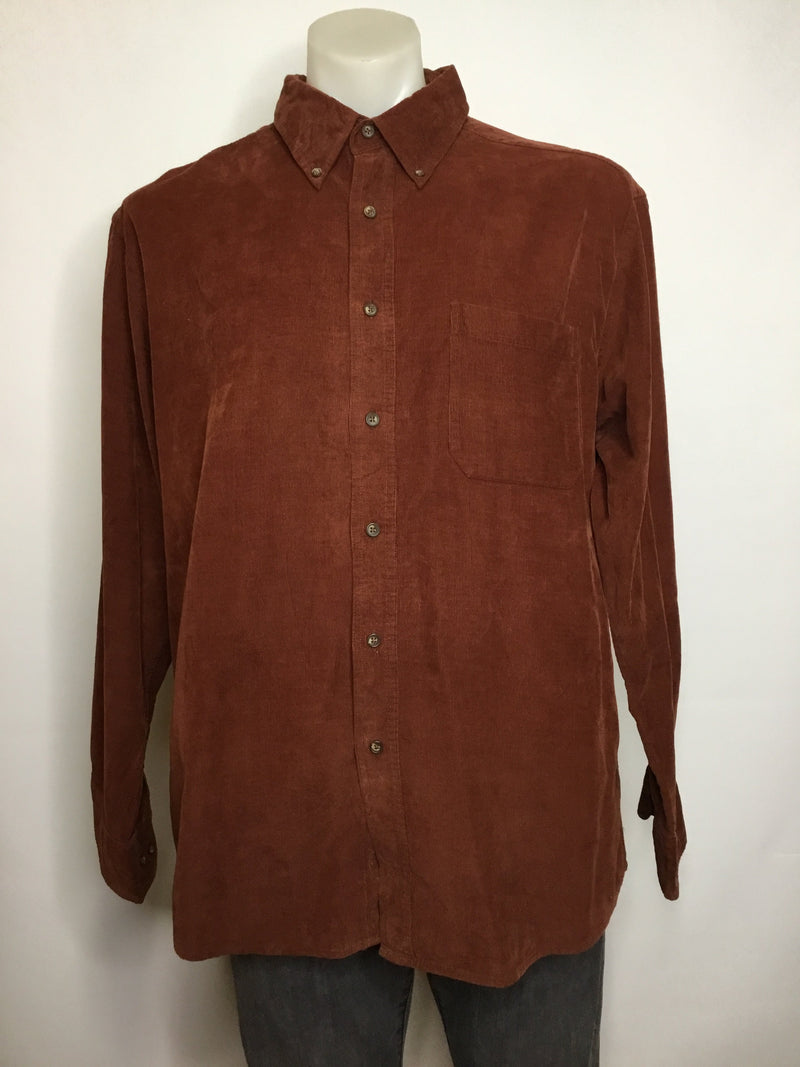 Burnt Sienna Cord Shirt
