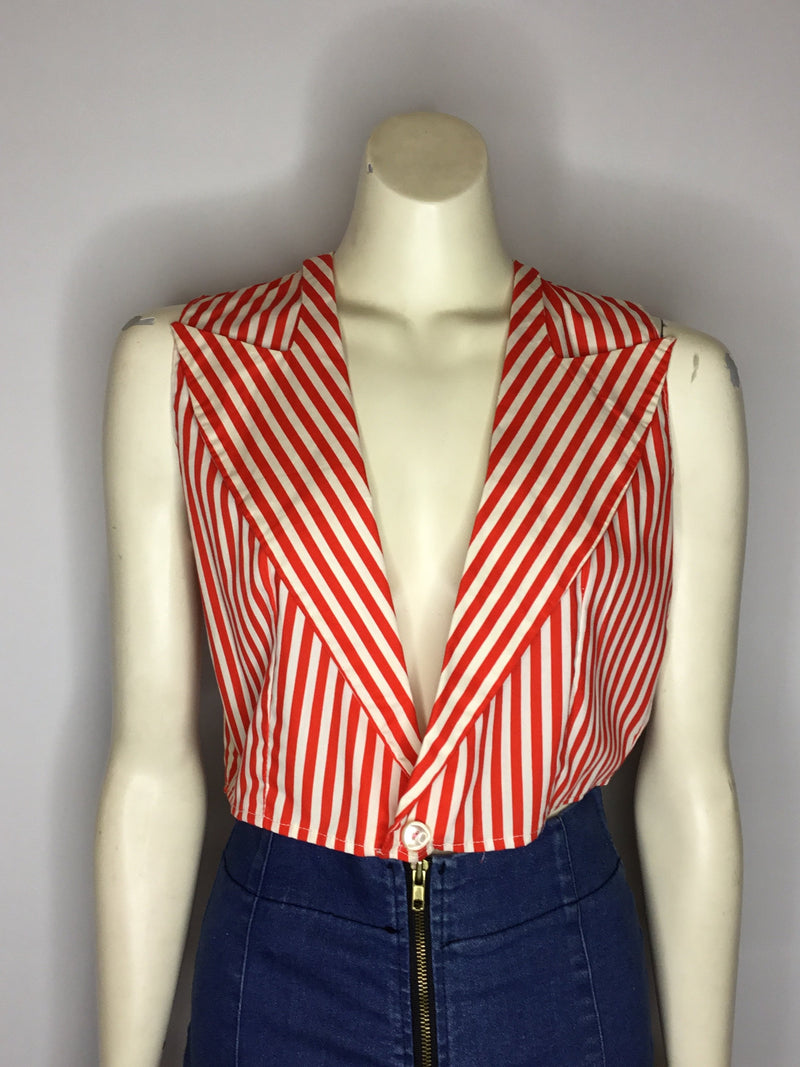 Candy Stripe Cropped Vest