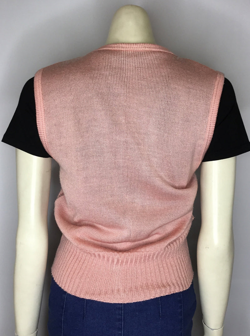 Dusty Pink Knit Vest