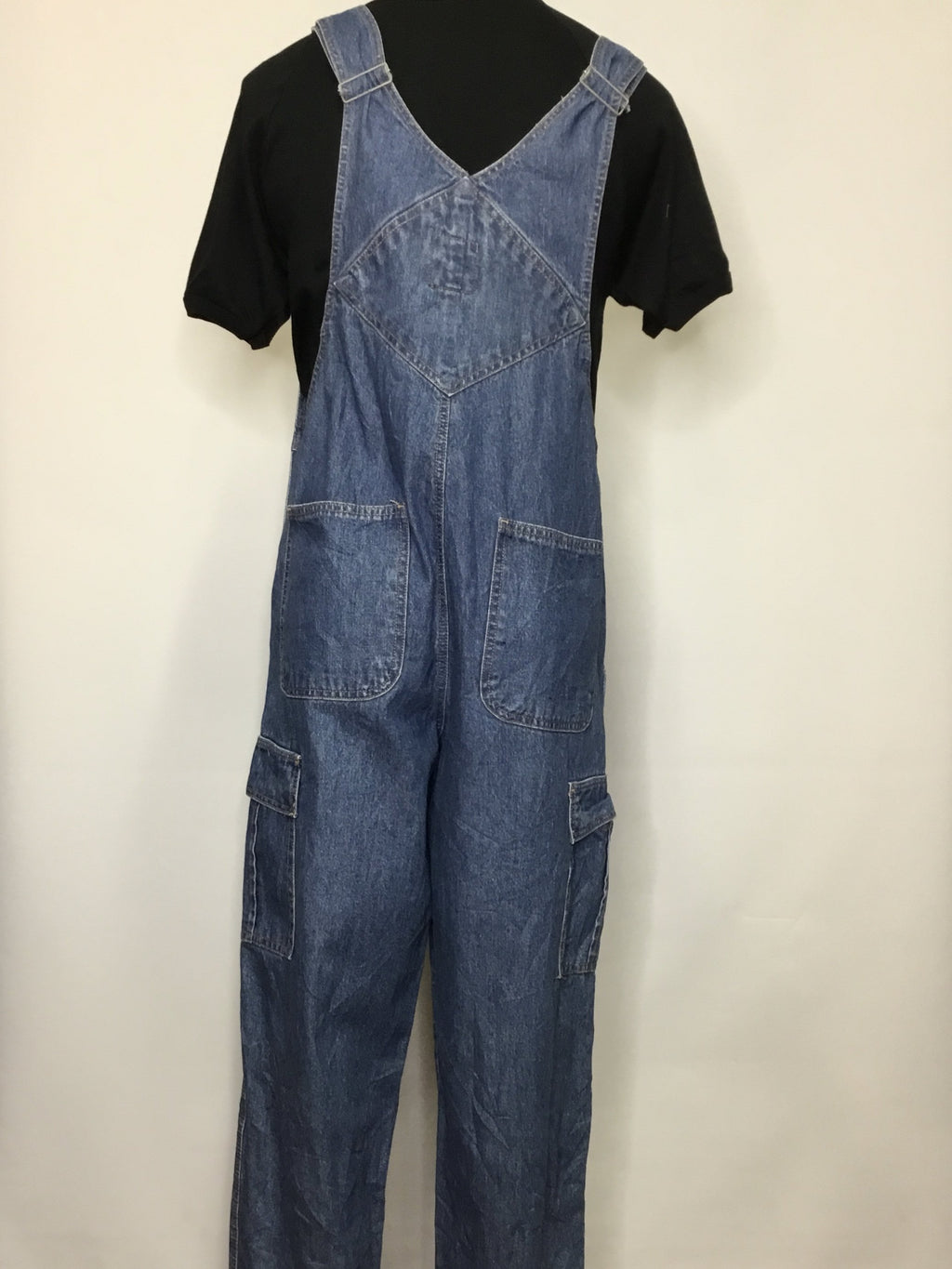 Faded Glory Blue Denim Overalls