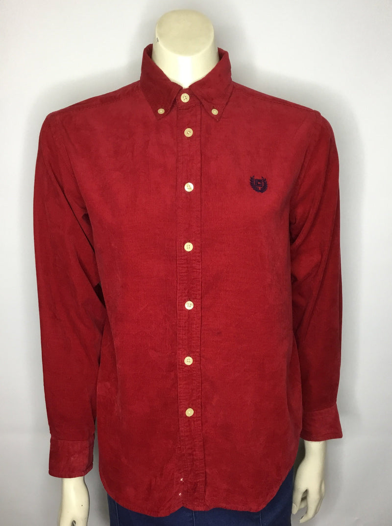 Fire Truck Red Chaps Cord Shirt - AS IS - minor mark