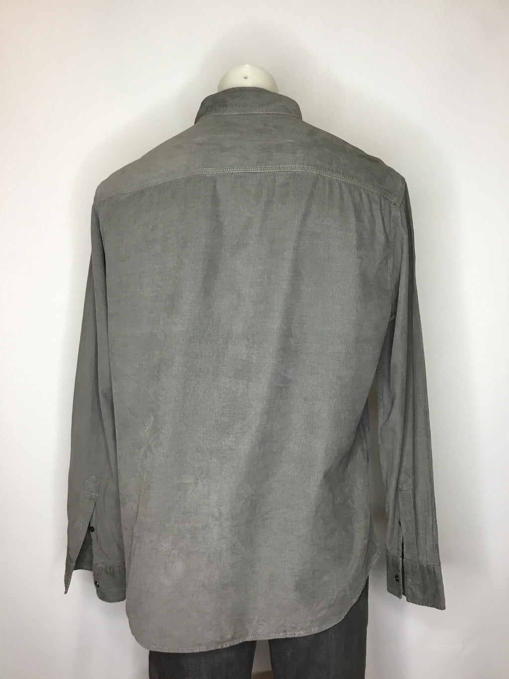 Fossil Grey Cord Shirt