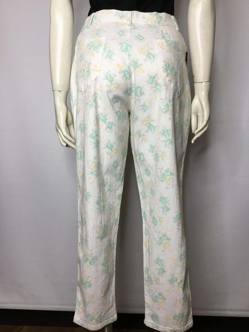 Frosty Mint Floral Trousers