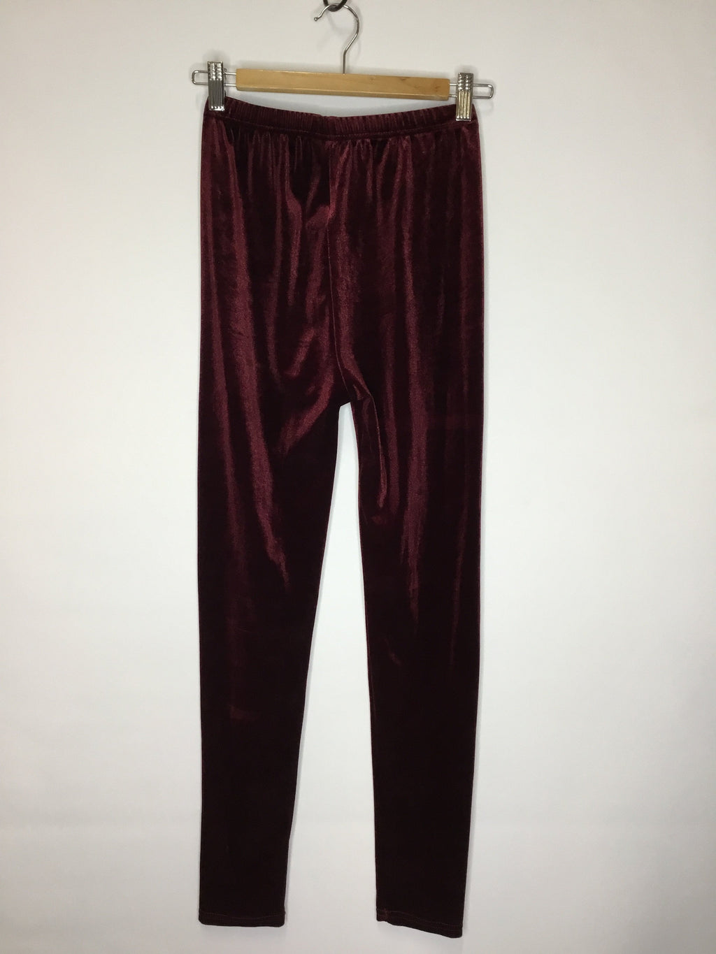 Maroon Velour Leggings