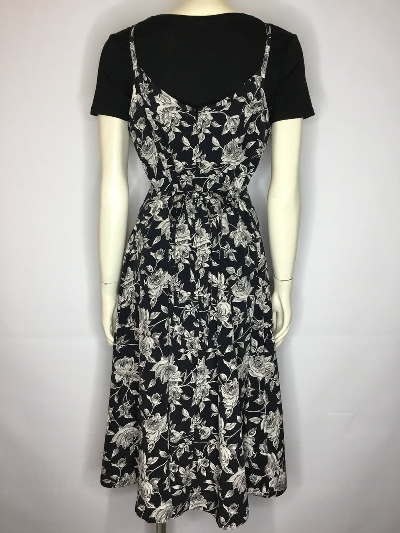 Monochrome Roses Dress