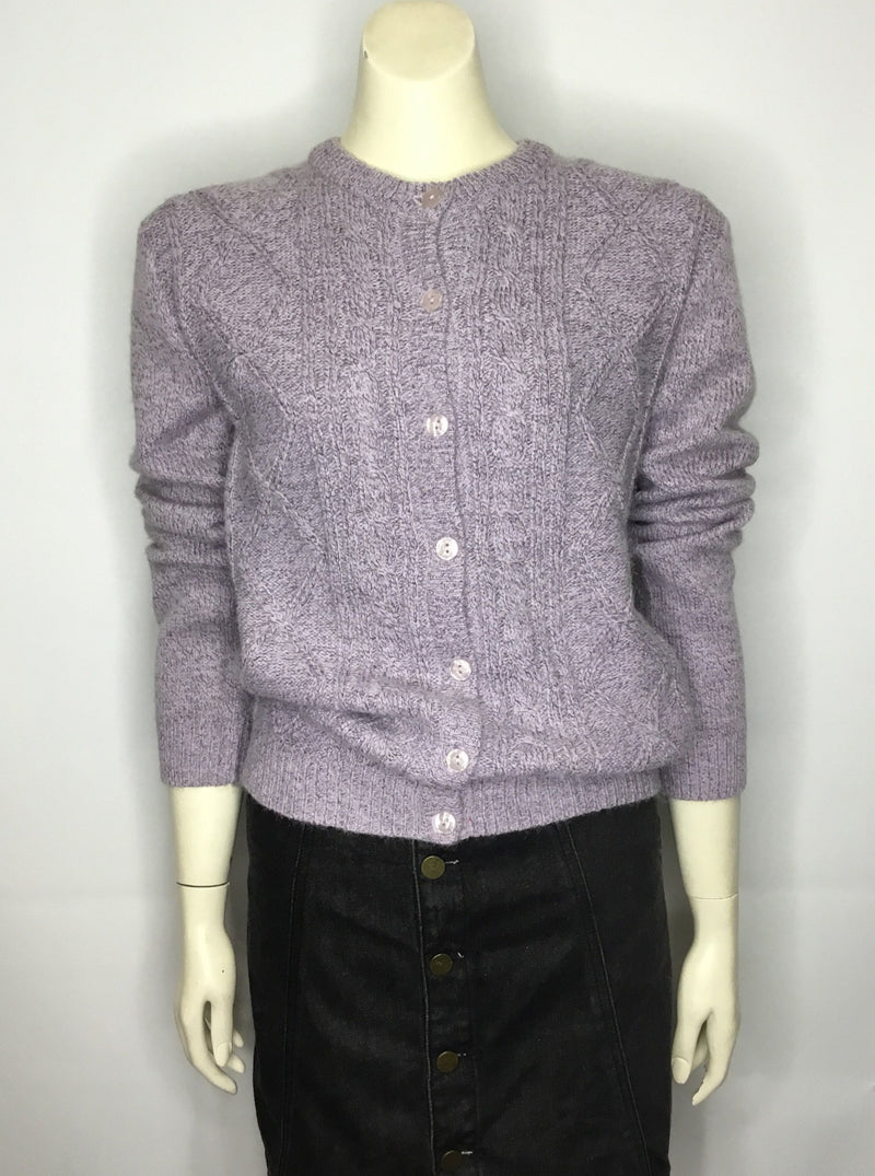 Purple Knitted Cardigan