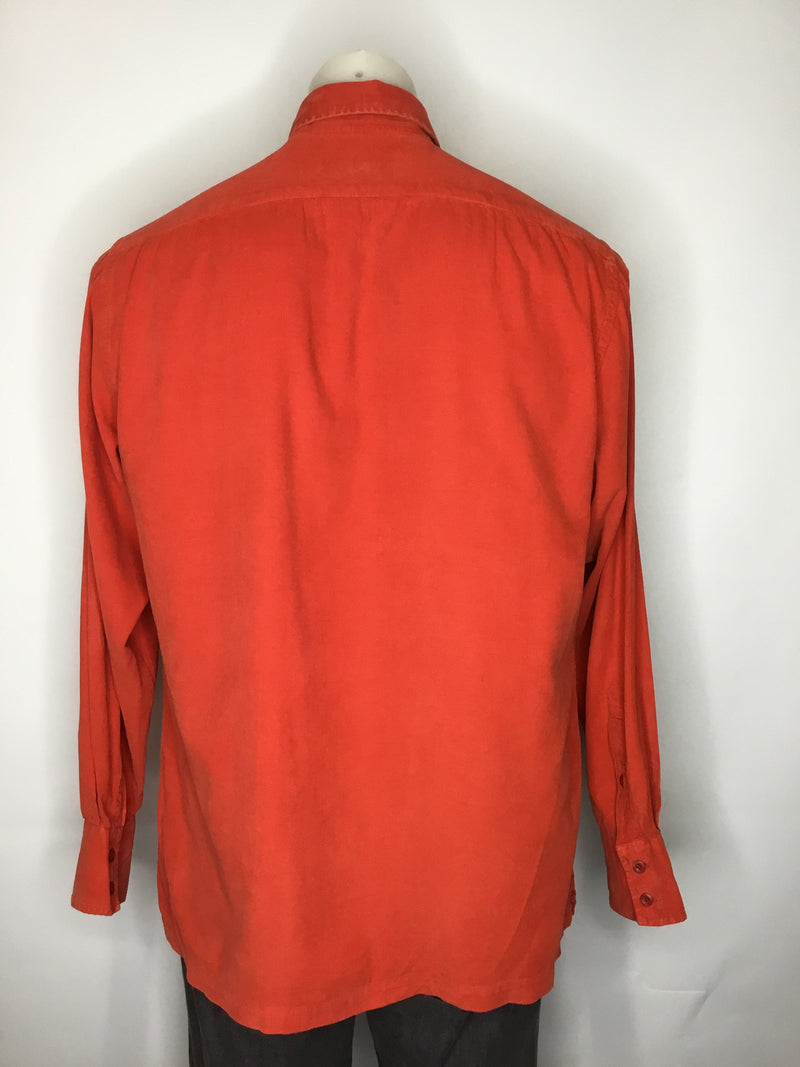 Saint Hilaire Orange Cord Shirt