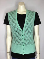Seafoam Knit Vest - AS IS - marks