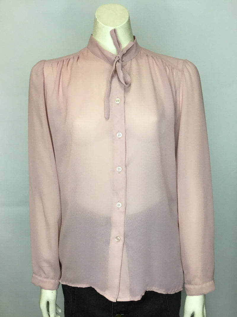 Sheer Dusty Pink Blouse