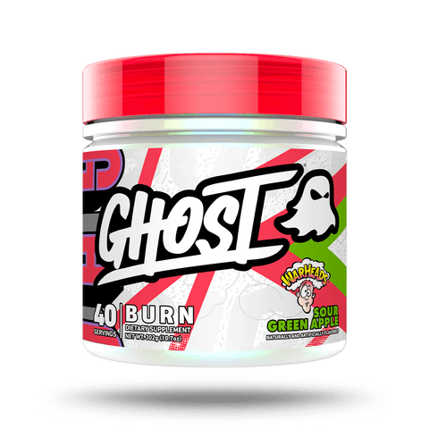 GHOST® BURN Fat burner and thermogenic WARHEADS® Sour Green Apple flavor
