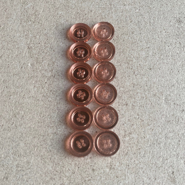 Rose Gold Mirrored Buttons (Set of 6) - Traveling Yarn