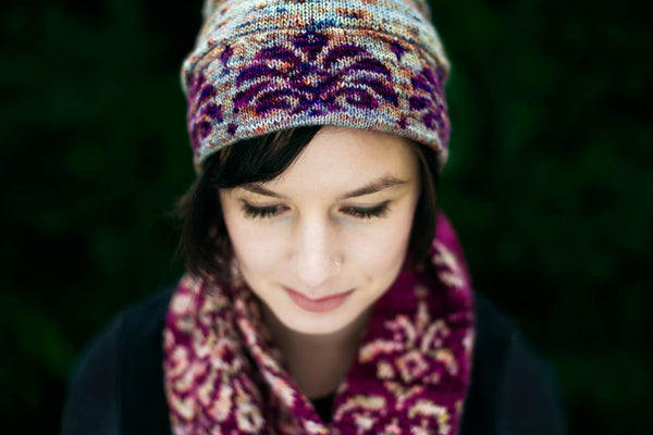 Winter Hellebore Hat + Cowl Kits - Traveling Yarn
