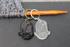 Zodiac Stitch Markers - Traveling Yarn