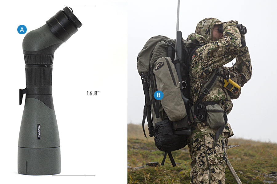 Stone Glacier Packs Spotting Scope