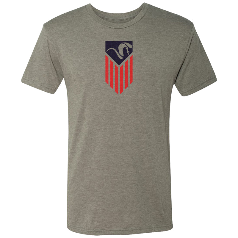 American Ram Flag T-Shirt - Warm Gray