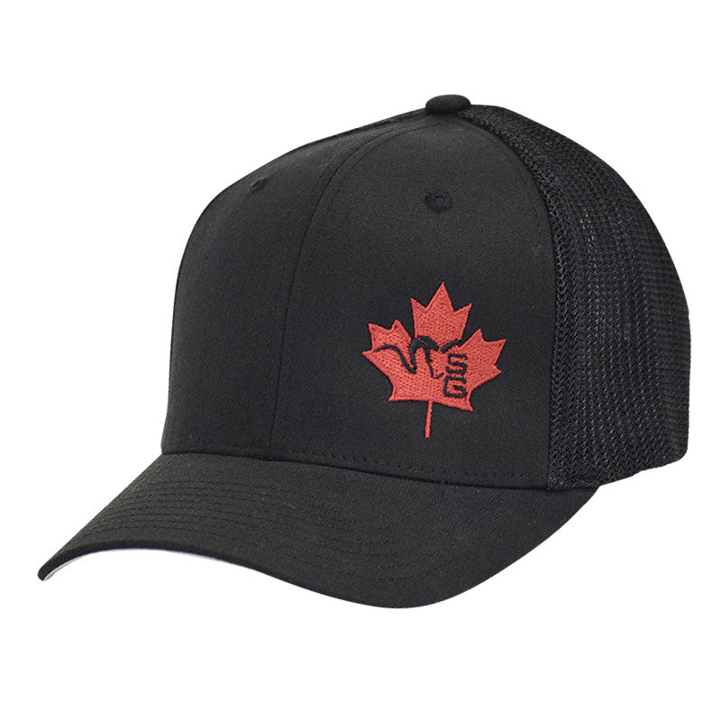 SG Ram Maple Leaf Flexfit Trucker - Black
