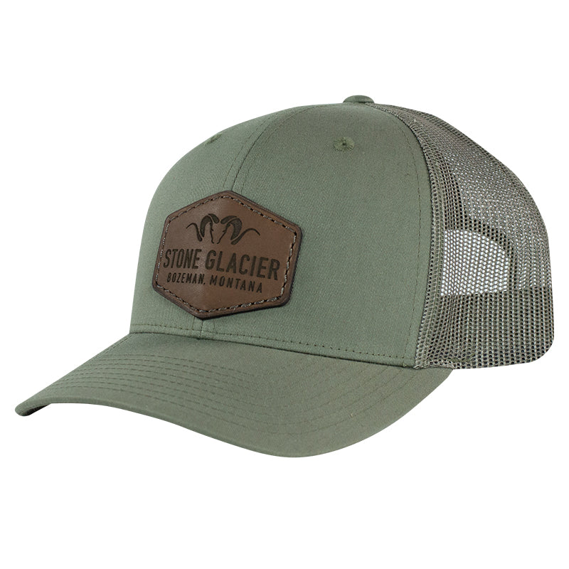 Stone Glacier Leather Patch Trucker