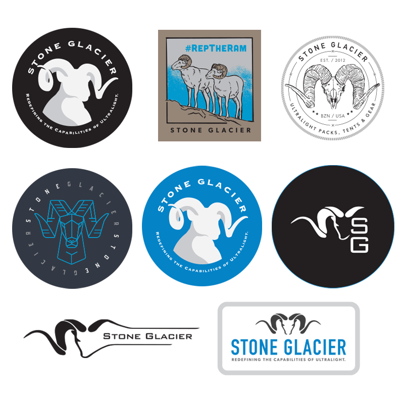 Stone Glacier Sticker