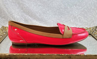 Roberto Vianni coral leather loafers