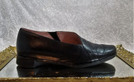 Naot black leather slip ons