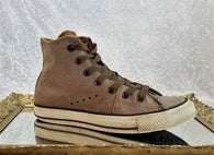 Converse Chuck Taylor distressed brown leather sneakers