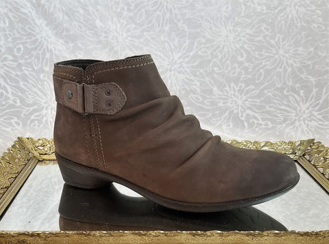 Cobb Hill suede ankle booties