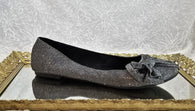Rocket Dog grey glitter flats