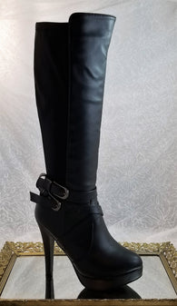 Forever black knee high boots