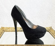 Qupid black shimmer pumps