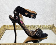 Betsey Johnson black mesh sandals