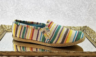 Keds striped canvas loafers